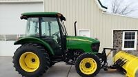 2005 TRACTOR SERVICED ON TIME JOHN DEERE CAB AND PLOW
