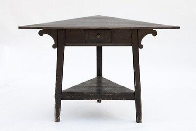English Corner Table with Ebony Stain Finish