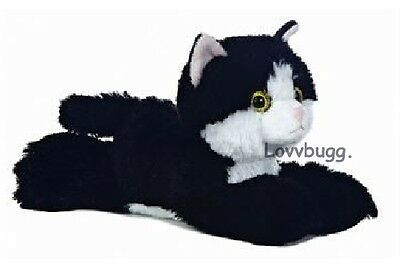 "Lovvbugg Black n White Cat Pet for 18"" American Girl Doll Accessory"