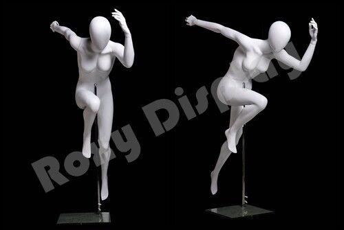 Egg Head Female Fiberglass Abstract Style Mannequin Dress Form #MZ-PB6