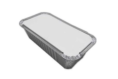 No 6a ALUMINIUM FOIL FOOD CONTAINERS + LIDS - PERFECT FOR TAKEAWAYS OR HOME USE