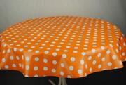 Oilcloth Tablecloth Orange