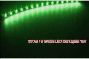 4X 30CM 15 Green LED Car lights 12 V - Flexible Neon Strip LED Sydney City Inner Sydney Preview
