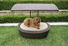 Wicker Covered Dog Beds