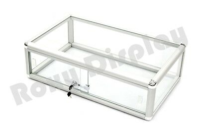Glass Countertop Display Case Store Fixture Showcase With Front Lock Sc-kdflat