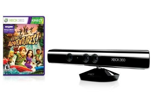 Microsoft Xbox 360 Kinect Motion Sensor Bar + Kinect Adventures Game Bundle OEM