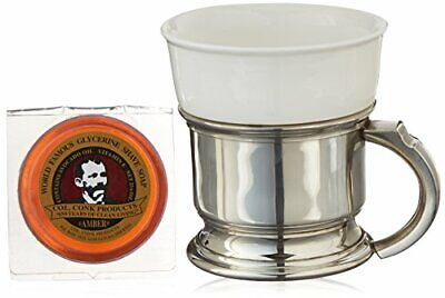 Colonel Conk No.127 Shaving Mug with Pewter Caddy Colonel Conk Shaving Mug