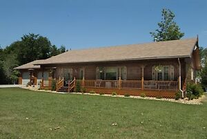 2 Acre Model Log Home in Williamsford For Sale!
