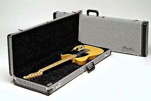 Fender G&G Hardshell Deluxe Black Tweed Guitar Case NEW