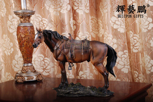 """New Large Resin Horse Statue Figure Sculpture 11"""" Long  s1318"""