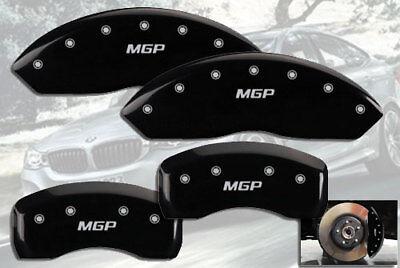 "2011-2014 BMW X6 xDrive35i Front + Rear Black ""MGP"" Brake Disc Caliper Covers"