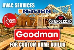 Home HVAC Installers for Your New Build - All Builders Welcome