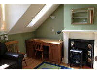 1 bedroom furnished attic flat, 11 / 6 Steads Place, Edinburgh, off Leith Walk.