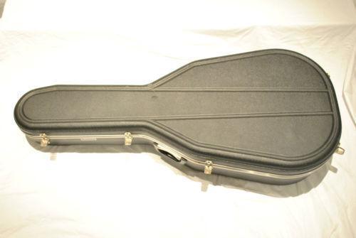 used acoustic guitar hard case ebay. Black Bedroom Furniture Sets. Home Design Ideas