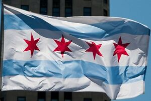 NEW 3x5 ft CITY OF CHICAGO ILLINOIS STATE FLAG