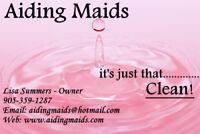 Hiring Part Time Maid/House Cleaner