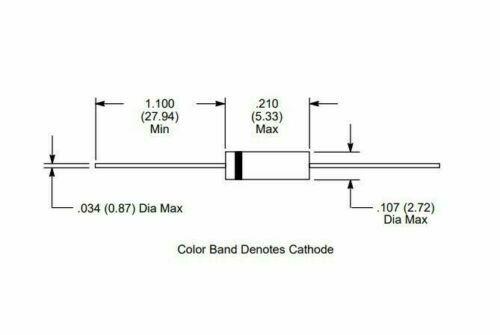 NTE ELECTRONICS DIODES 1N2069 1N4002 1N4003 1N4004 1N4005 FD333 NTE116 ~ NOS USA