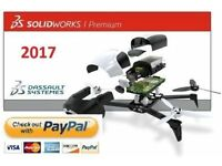 SolidWorks 2017 PREMIUM on USB STICK SP2 PC CAD Software not 2016 Free Postage