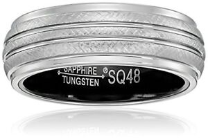 Sapphire Tungsten Ring Reduced