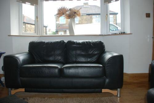 Two 2 Seater Leather Sofas Ebay