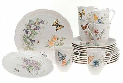 Lenox Butterfly Meadow 18-Piece Dinnerware Set, Service for 6 , New, Free Shippi