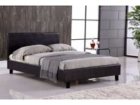 FREE FAST DELIVERY!! STRONG & STURDY LEATHER BED FRAME IN ALL SIZE SINGLE,DOUBLE ,KING SIZE