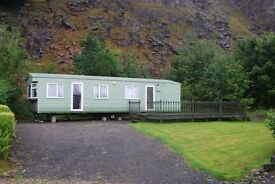 Immaculate 35' x 12' 2 bed static, environmental green colours for sale.