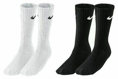 Pair Nike Crew Sports Socks Mens Womens Socks White Black Grey