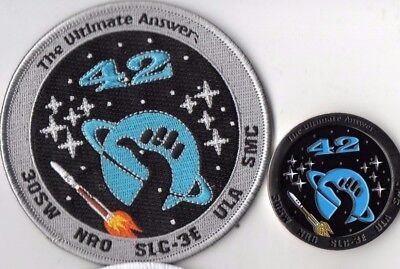 Original USAF VAFB 30SW 4SLS NRO L-42 Satellite Launch Patch & Coin Set - 2pcs.
