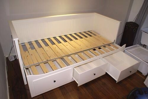 hemnes day bed with 3 drawers 2 firm malfors mattress