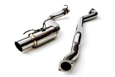 Wrx Turbo Back - Invidia N1 Race Cat Back Exhaust 2008-2014 Subaru Impreza WRX (Stainless Tip)