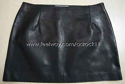 [Masion Martin Margiela] Short Black Leather Skirt Size EU 44 Simple Basic Style