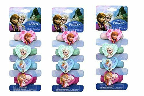 Disney-Frozen-4-Terries-Hair-Band-with-Plastic-Character-x-3-packs-by-Disney-New