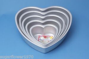 PME Heart Shaped Cake Pan Tin Tiered Wedding Cake 6 8 10 12 14 Inch Next Day