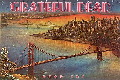 GRATEFUL DEAD - DEAD SET POSTER - 24x36 GOLDEN GATE BRIDGE MUSIC 39545
