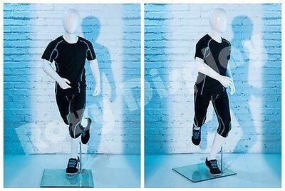 Egghead Child Mannequin Running Pose Display Dress Form Mz-rbt02
