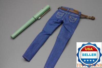 1//6 Scale Denim Jeans Shorts with Belt C For TBLeague PHICEN Female Figure ❶USA❶