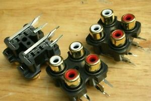 4-Right-Angle-Panel-Mout-PCB-RCA-Chassis-Audio-Jack-QGi
