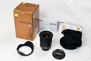 like new Nikon AF S 10 24 G ED DX ultra wide angle zoom in box