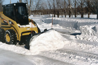 Skid steer for hire for snow removal