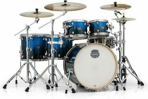 Mapex Armory 6-Ply Studioease Fast Maple/Birch shell Tom Shell Pack, Photon Blue