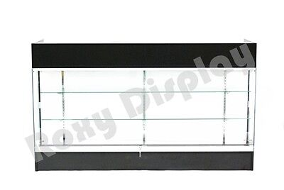 Black Ledgetop Counter Display Showcase Store Fixture Knock Down Ltc-gl6bk-sc