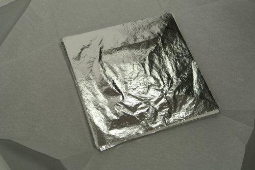Imitation Silver Leaf 140mm X 140mm - 500 Sheets
