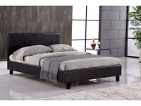 Biggest price sale in uk Brand new double king size faux leather bed frame w super ortho mattress