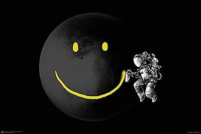 MAKE A SMILE - FUNNY ASTRONAUT POSTER 24x36 - 11320