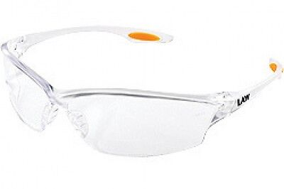 144 PAIRS CREWS LW210 LAW 2 SAFETY GLASSES CLEAR LENS MCR 1 CASE