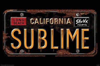SUBLIME - CALIFORNIA LICENSE PLATE POSTER - 24x36 MUSIC NOWELL SKA PUNK 241253