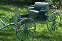 Horse Drawn BUGGY Carriage with Shafts - Seats 2 Adults