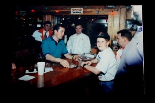 Vtg Hooters Alan Kulwicki Nascar Racing Photo Last Signing 1993 Before Crash
