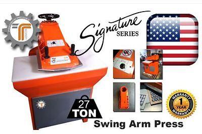 New 27-ton Swing Arm Clicker Press - Die Cutting Press From Cjrtec